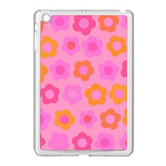 Pink Floral Pattern Apple Ipad Mini Case (white) by Valentinaart