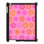 Pink floral pattern Apple iPad 3/4 Case (Black) Front