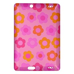 Pink Floral Pattern Amazon Kindle Fire Hd (2013) Hardshell Case by Valentinaart