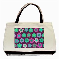 Floral Pattern Basic Tote Bag by Valentinaart