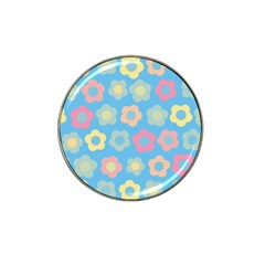 Floral Pattern Hat Clip Ball Marker by Valentinaart