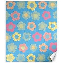 Floral Pattern Canvas 8  X 10  by Valentinaart