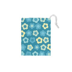 Floral Pattern Drawstring Pouches (xs)  by Valentinaart