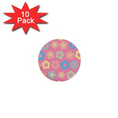 Floral Pattern 1  Mini Buttons (10 Pack)  by Valentinaart
