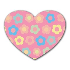 Floral Pattern Heart Mousepads by Valentinaart