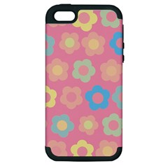 Floral Pattern Apple Iphone 5 Hardshell Case (pc+silicone) by Valentinaart