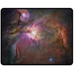 Orion Nebula Double Sided Fleece Blanket (medium)  by SpaceShop