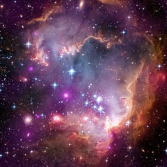 Small Magellanic Cloud Canvas 12  X 12   by SpaceShop