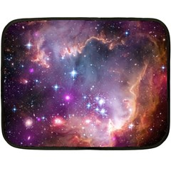 Small Magellanic Cloud Double Sided Fleece Blanket (mini)  by SpaceShop