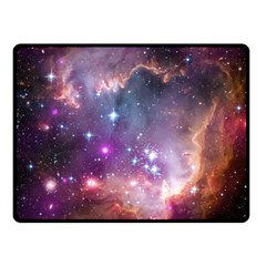 Small Magellanic Cloud Double Sided Fleece Blanket (small)  by SpaceShop