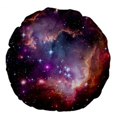 Small Magellanic Cloud Large 18  Premium Flano Round Cushions by SpaceShop