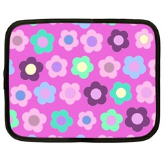 Floral Pattern Netbook Case (large) by Valentinaart