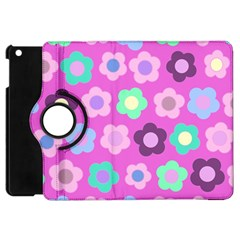 Floral Pattern Apple Ipad Mini Flip 360 Case by Valentinaart
