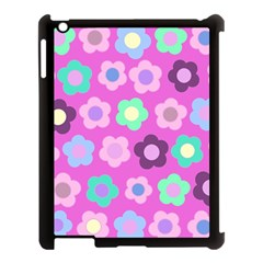Floral Pattern Apple Ipad 3/4 Case (black) by Valentinaart