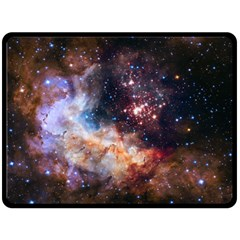 Celestial Fireworks Fleece Blanket (large)  by SpaceShop
