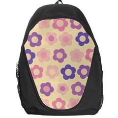 Floral Pattern Backpack Bag by Valentinaart