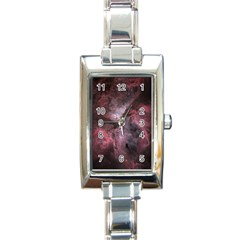 Carina Peach 4553 Rectangle Italian Charm Watch by SpaceShop