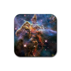 Pillar And Jets Rubber Coaster (square)  by SpaceShop