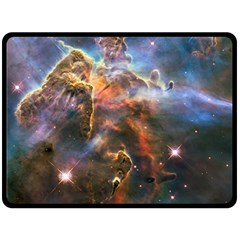 Pillar And Jets Double Sided Fleece Blanket (large)  by SpaceShop