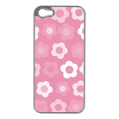 Floral Pattern Apple Iphone 5 Case (silver) by Valentinaart