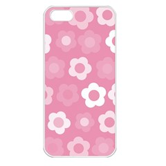 Floral Pattern Apple Iphone 5 Seamless Case (white) by Valentinaart