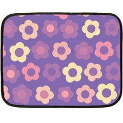 Floral Pattern Fleece Blanket (mini) by Valentinaart