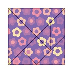Floral Pattern Acrylic Tangram Puzzle (6  X 6 ) by Valentinaart