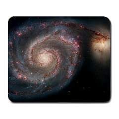 Whirlpool Galaxy And Companion Large Mousepads by SpaceShop