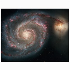 Whirlpool Galaxy And Companion Canvas 11  X 14   by SpaceShop