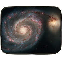 Whirlpool Galaxy And Companion Fleece Blanket (mini) by SpaceShop