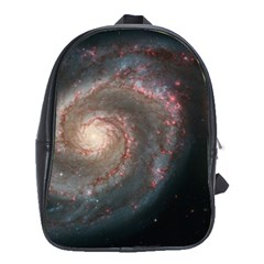 Whirlpool Galaxy And Companion School Bags(large)  by SpaceShop