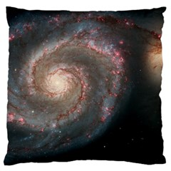 Whirlpool Galaxy And Companion Large Cushion Case (two Sides) by SpaceShop