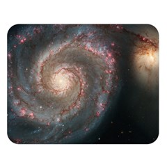 Whirlpool Galaxy And Companion Double Sided Flano Blanket (large)  by SpaceShop