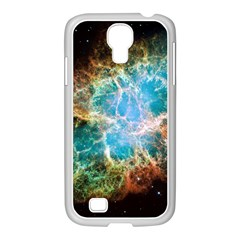 Crab Nebula Samsung Galaxy S4 I9500/ I9505 Case (white) by SpaceShop