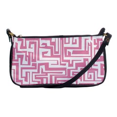 Pink Pattern Shoulder Clutch Bags by Valentinaart