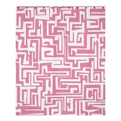 Pink Pattern Shower Curtain 60  X 72  (medium)  by Valentinaart