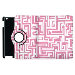Pink Pattern Apple Ipad 3/4 Flip 360 Case by Valentinaart