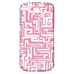 Pink Pattern Samsung Galaxy S3 S Iii Classic Hardshell Back Case by Valentinaart
