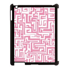 Pink Pattern Apple Ipad 3/4 Case (black) by Valentinaart