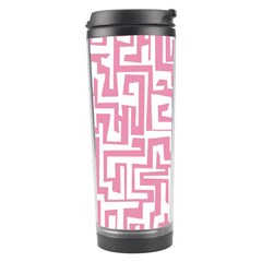 Pink Pattern Travel Tumbler by Valentinaart