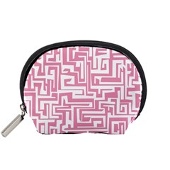 Pink Pattern Accessory Pouches (small)  by Valentinaart