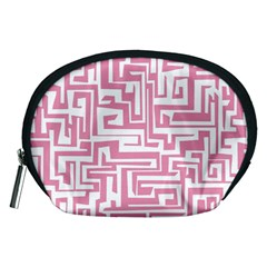 Pink Pattern Accessory Pouches (medium)  by Valentinaart