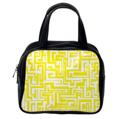 Pattern Classic Handbags (one Side) by Valentinaart