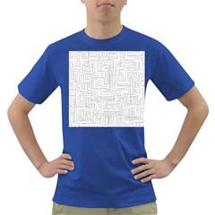Pattern Dark T Shirt by Valentinaart