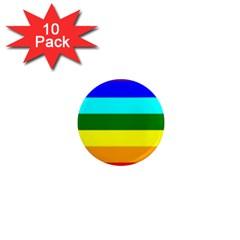 Rainbow 1  Mini Magnet (10 Pack)  by Valentinaart
