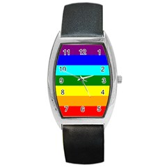 Rainbow Barrel Style Metal Watch by Valentinaart