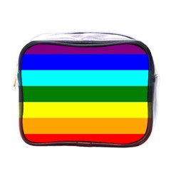Rainbow Mini Toiletries Bags by Valentinaart