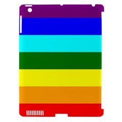Rainbow Apple Ipad 3/4 Hardshell Case (compatible With Smart Cover) by Valentinaart