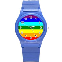 Rainbow Round Plastic Sport Watch (s) by Valentinaart