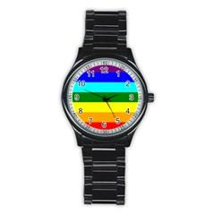 Rainbow Stainless Steel Round Watch by Valentinaart